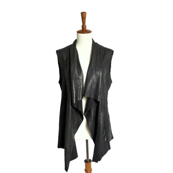 Topshop Jackets & Blazers - Faux Leather Vest